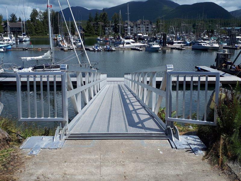 Aluminum Ramp Boat Dock Marine Grade bridge gangway walkway lake ocean marina heavy duty pacific ocean riptide parksville sproat (12)