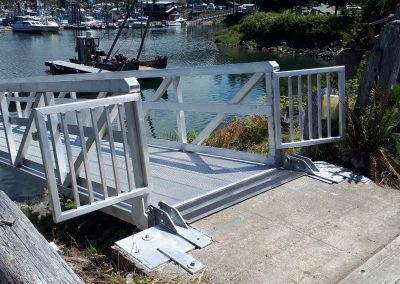 Aluminum boat gangway bridge ramp dock lake ocean marina boats landingcraft riptide marine grade pacific floats radar arch utility LED swim grid Mercury Yamaha Verado HP Raymarine VHS (40) - Copy
